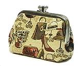 Damen Geldbeutel 10 x 8 x 5 cm Portmonee Geldbörse Motiv Hut und Schuh im Gobelin Stil Signare Royaltex Fa. Bowatex