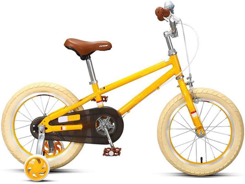 ZEwe Bicicletta per Bambini 14-16 Pollici Ragazzi e Ragazze Bicicletta Bicicletta Moda con Gruppo Ruota ausiliario Bambini Bicicletta