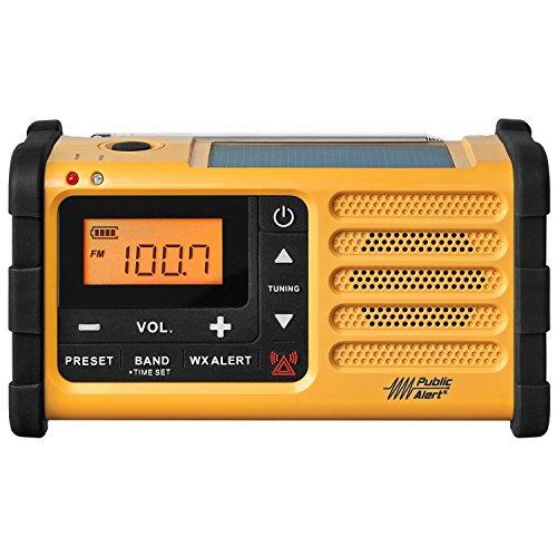Sangean MMR-88 FM / AM / Weather / Handcrank / Solar / Emergency Alert Radio - with NOAA All Hazard, Weather Disaster - FM, AM, WX - 7 Weather - Handheld - MMR-88 by Sangean