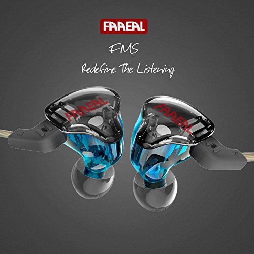 Original FAAEAL FMS Armature Dual Driver Earphone Detachable Cable in Ear Audio Monitors Noise Isolating HiFi Music Sports Earbuds VS KZ ZST Pro - Without Mic