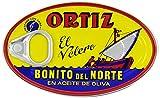 Kosher Ortiz Bonito Del Norte Tuna In Olive Oil 3.95 oz Oval Tin, Ortiz Tuna Fish In Olive Oil, Canned Tuna In Olive Oil, Tuna From Spain, Pack Of 12