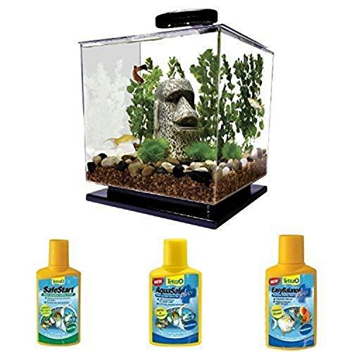 Tetra Cube 3-Gallon Aquarium Starter Bundle with 3 water conditioners