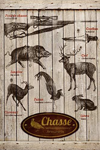 Cuadro de madera caza