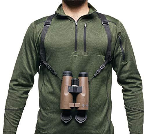Bushnell BASFHARN Correa para prismáticos, arnés, Soporte para sujeción-Permite Llevar cómodamente, Unisex, Negro