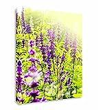 Qbbes, alta flor púrpura campo floral lienzo pared arte imagen impresión-24x20inch(60x50cm)Framed