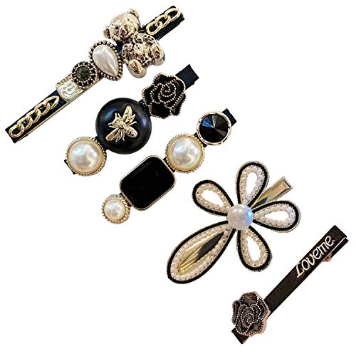 Haarspange Damen - Mode Stil Perlen Haarspangen Zubehör für Hochzeit Valentinstag Geschenke Haarnadeln Haarschmuck für die Braut, Damen und Mädchen Kopfbedeckung Styling Tools Haarschmuck