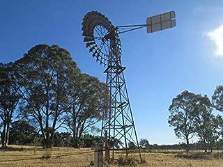 Home Comforts Peel-n-Stick Poster of Australia Wind Vane Farm Windmill Vivid Imagery Poster 24 x 16 Adhesive Sticker Poster Print