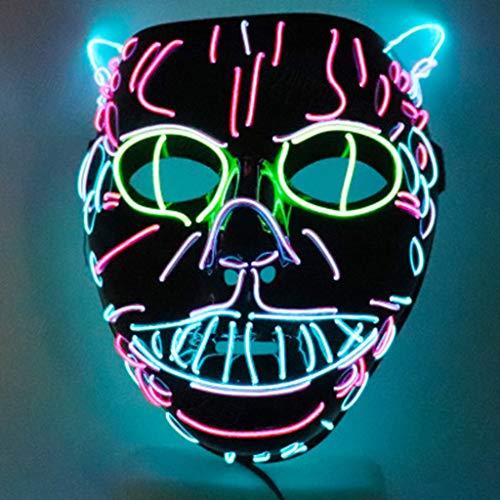 SONGSH Canciones Máscara Halloween Gato Lindo máscara