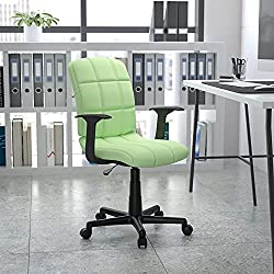 Flash Furniture Mid-Back Quilted Vinyl Chair Pic- Best Office Chair Under 100