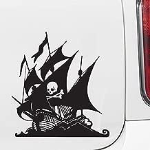 Yadda-Yadda Design Co. Pirate Ship w Skull & Crossbones - Car | Truck | Motorcycle | Boat - Vinyl Decal Copyright (6.5