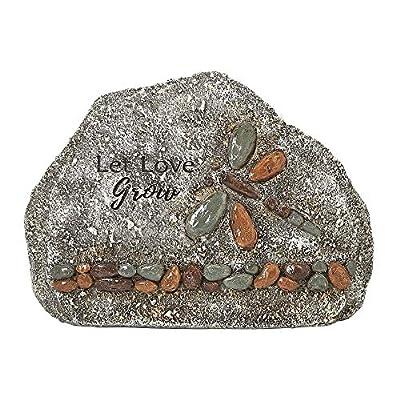 Roman Garden - Dragonfly Garden Stone, 5.5H, Garden Collection, Resin and Stone, Decorative, Garden Gift, Home Outdoor Decor, Durable, Long Lasting