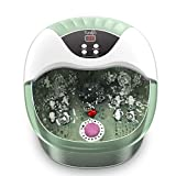 Foot Spa/Bath Massager, Turejo Home Spa Bath with Bubble, 14 Manual Massage Rollers