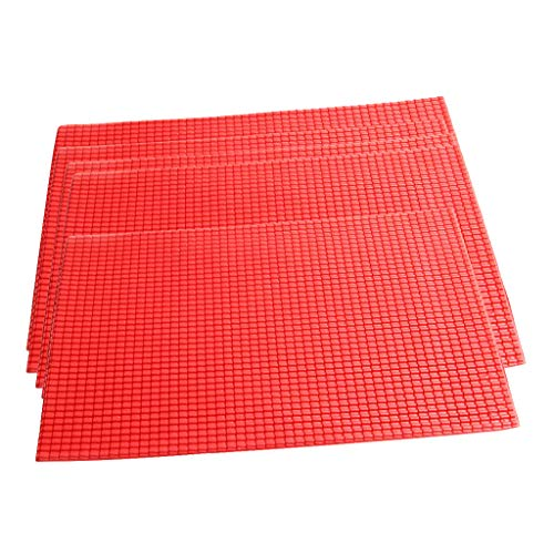 P Prettyia 5er Set Kunststoff Platten Dachziegel Modellbauplatte für Gebäude Modell