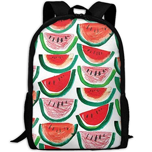 best& Vintage Food, Fruit,Summer,Watermelon College Laptop Backpack Student School Bookbag Rucksack Travel Daypack