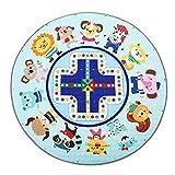 Jeteven Baby Krabbeldecke Matt Kinderzimmer Kinderteppich Decke, groß und weich gepolstert mit AU Aufbewahrungsbeutel, ca.150cm, Muster: Fuchs (G:Zoo)