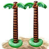 """JUST ADD AIR - This oversized blowup package includes 2 pieces of Kicko's 66"""" Palm Tree Inflatables. They come in the shape of palm trees and are big enough to steal the attention of the crowd. You can also display other accents like monkeys along wi..."""