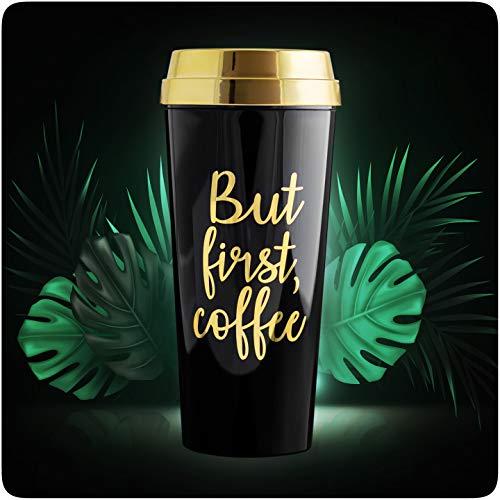 PRECORN Stylischer Kaffeebecher to go 450 ml Coffee to go Becher