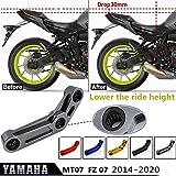 MT07 FZ07 Kit de eslabones de bajada de suspensión trasera de 30 mm para Yamaha MT 07 FZ 07 MT...
