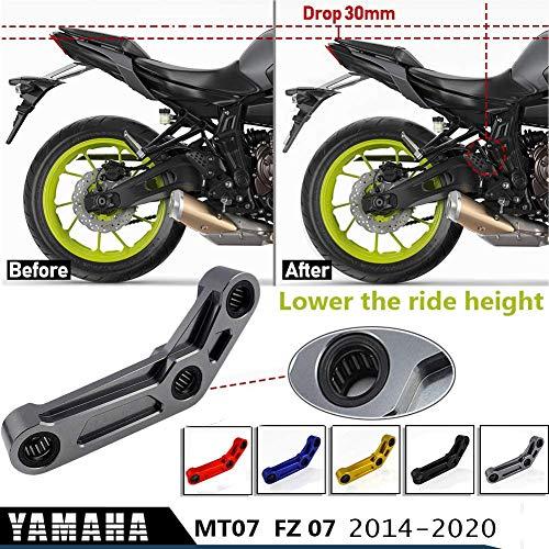 XX eCommerce MT07 FZ07 Hinterradaufhängungs-Tieferlegungssatz 30 mm Für Yamaha MT 07 FZ 07 MT-07 FZ-07 2014-2020 Motorradzubehör Verbindungskupplungssatz CNC 2015 2016 2017 2018 2019 (Blau)
