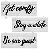 3 Pieces Guest Room Decor, Get Comfy Wall...