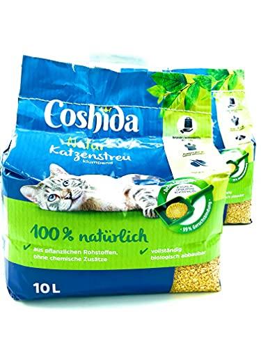 Coshida 2X Natur-Katzenstreu a 10l Beutel ( 20L )