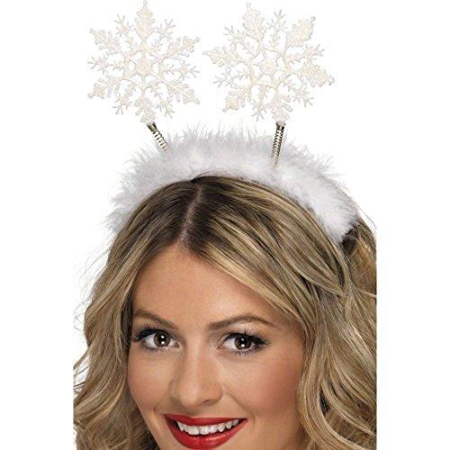 NET TOYS Weihnachtshaarreif Schneeflocken Haarreif Haarreifen Schneeflocke Haarschmuck Weihnachten Feenschmuck Kostüm Zubehör