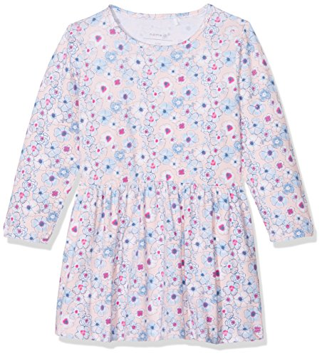 Name It Nbffanoja Ls Dress Robe, Multicolore (Peachy Keen), 68 Bébé Fille