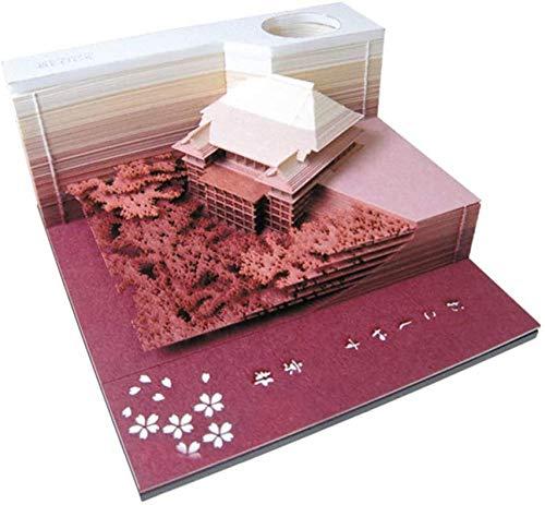 XIJIE 3D-Notizblock, Memo, 3D-Blöcke, Bastelkunst, Tank, Stereo, Geschenk, Ornamente, Modell-Dekoration, klebrige 3D-Aufkleber