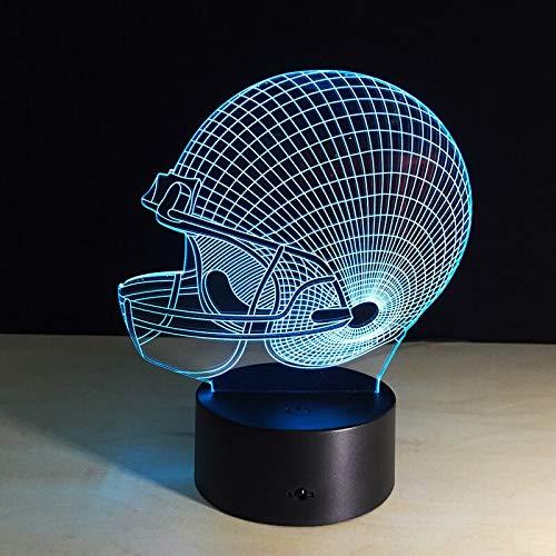 American Football Helm licht nachtlicht Schlafzimmer Dekoration Farbe wassertropfen Transport Sport nachtlicht Baby Kind Geschenk