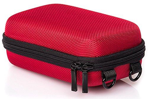 Baxxtar Pure RED Größe L - Kameratasche rot (Gurt und Gürtelschlaufe) CyberShot DSC HX60 HX90 HX95 HX99 - Lumix DMC TZ81 TZ71 - PowerShot SX730 SX740 - Coolpix W100 W150