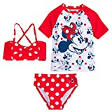 Disney Minnie Mouse Red Polka Dot Deluxe Swimsuit Set for Girls- Size 2