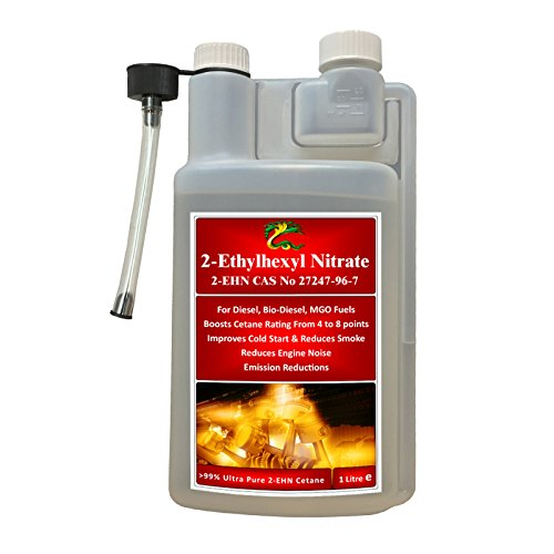 Hydra-Kraftstoff, sehr rein >99% 2 Ethyl-Hexylnitrat, 2 EHN, 1 l, für Biodiesel + MGO-Kraftstoffe, Kraftstoffzusatz