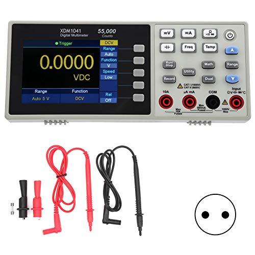 Multímetro, multímetro digital XDM1041 3.7in LCD Mini Multímetro digital de escritorio Medidor de temperatura de valor eficaz verdadero Medidor para instrumentos, laboratorios(EU Plug)