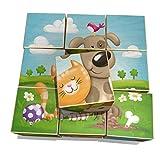 Weizenkorn Puzzle de dados con diseño de animales de granja