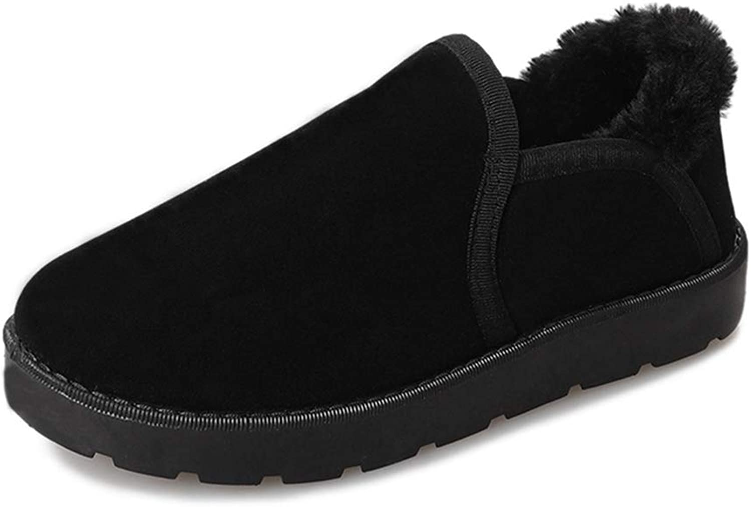 SANOMY Ankle Wrap Slippers Women Soft Warm Plush Cotton Indoor Outdoor shoes Furry Fur Winter Floor Flats