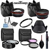 58MM Lens Attachments & Filters Accessory Bundle Kit for Canon EOS Rebel T7 T7i T6i T6S T6 T5i T5 T3i SL3 SL2 SL1 EOS 90D 80D 77D 70D 9000D 800D 760D 750D 7D DSLR Cameras, 17 pcs Accessories