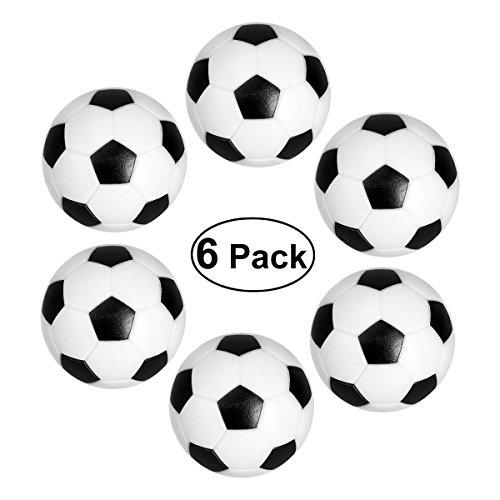 NUOLUX Futbolín Bolas Foosball - Reemplazos de Pelotas de fútbol DE 32 mm Mini Negro / Blanco, Foosball de Mesa - Set de 6