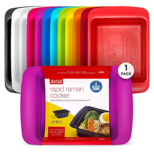Rapid Ramen Cooker | Microwavable Cookware for Instant Ramen | BPA Free and Dishwasher Safe | Perfect for Dorm, Small Kitchen or Office | Purple