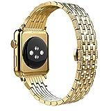 DXFFOK Caso de Diamante + Correa de Acero Inoxidable para Apple Watch Series 6 SE 5 4 3 Bandas Cubierta para/iWatch 38mm 42mm 40 / 44mm Pulsera Mujer Reloj Correa