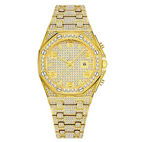 Relojes de lujo para mujer con diseño único de diamante, de oro de 18 quilates, de cuarzo, diseño árabe