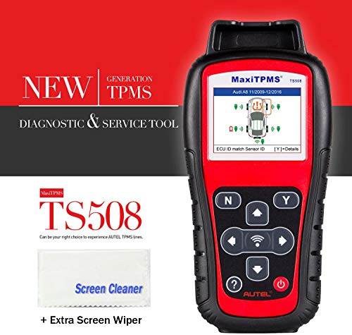 Autel MaxiTPMS TS508 with Free Screen Wiper Relearn Tool TPMS Programming TPMS Reset Sensor Activation Key Fob Testing Relearn by OBD Tire Type/Pressure Selection Advanced TS408 -  TS508C