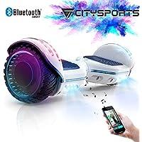 CITYSPORTS Patinete Eléctrico Hoverboard de 6.5 Pulgadas, Balance Board Inteligente Scooter 2x350W con LED Luces
