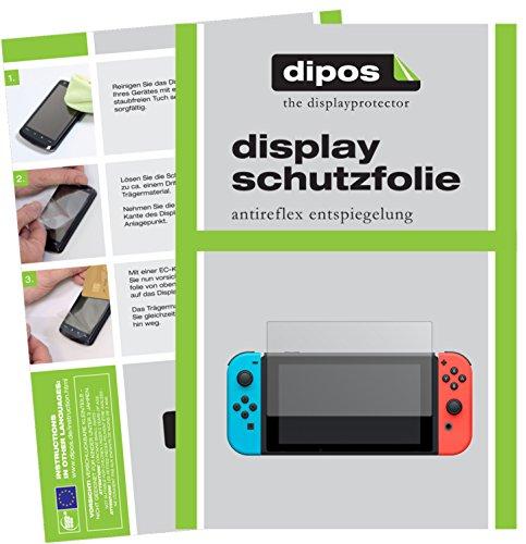 dipos I 2X Schutzfolie matt kompatibel mit Nintendo Switch Folie Displayschutzfolie