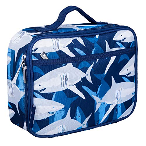 Wildkin Kids Insulated Lunch Box for Boys and Girls, Perfect Size for Packing Hot or Cold Snacks for School and Travel, Patterns Coordinate with Our Backpacks and Duffel Bags, Sharks