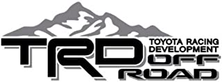 Noa Store Compatible with Toyota TRD Truck Mountain Off-Road 4x4 Racing Tacoma Decal Vinyl Sticker Pair of 2 (Black/Grey)