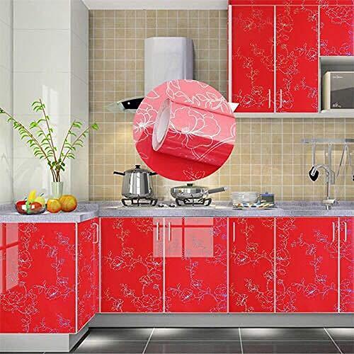 Bureau kast Sticker TV muur papier zelfklevend behang 40 cm wide * 3 m Pearl Champagne