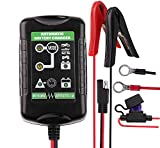 12V Battery Charger - Premium 6V - 12V Automatic Peak Battery Charger Trickle Maintainer for Auto, Car, Vehicle, Motorcycle, Lawn Mower, Boat, Jetski, Tractor, ATV, AGM Gel SLA Wet Lead Acid Battery