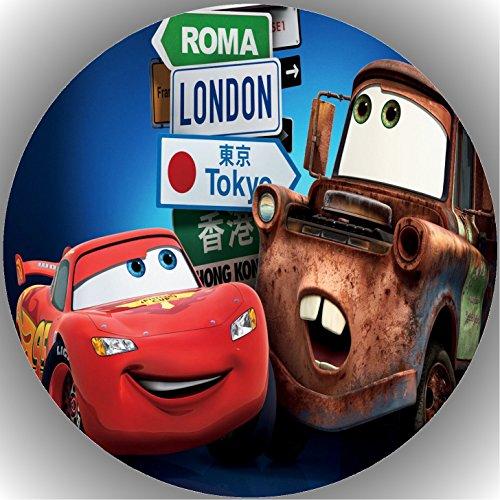Fondant Tortenaufleger Tortenbild Geburtstag Disney's Pixar Cars T6