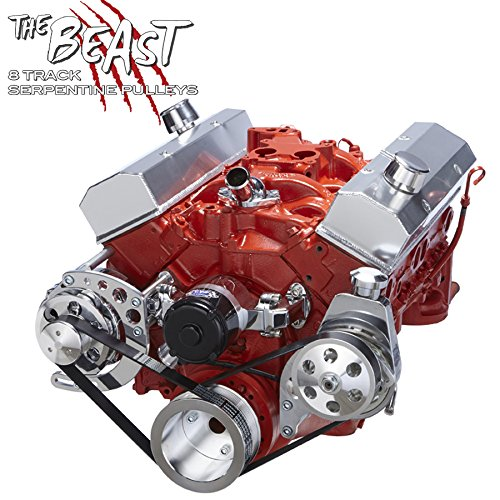 Chevy Small Bock Serpentine Conversion - Power Steering Applications with Electric Water Pump