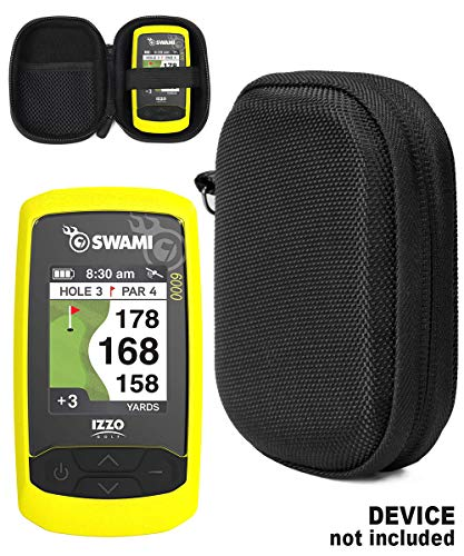 Golf GPS Case by CaseSack, Specially Designed for Izzo Swami 4000+ Golf GPS, and Swami 4000, 5000, 6000 Golf GPS Rangefinder; Garmin Approach G30, G6, G7 (Black)